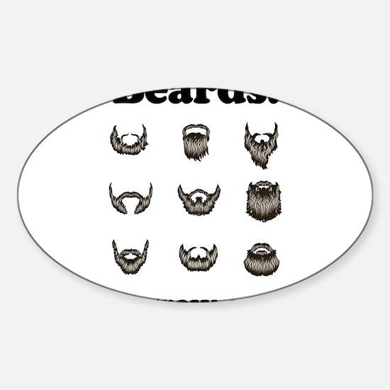 Beards - They Grow On You Sticker (Oval)