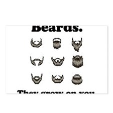 Beards - They Grow On You Postcards (Package of 8)
