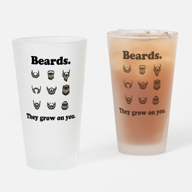 Beards - They Grow On You Drinking Glass