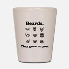 Beards - They Grow On You Shot Glass