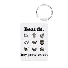 Beards - They Grow On You Aluminum Photo Keychain