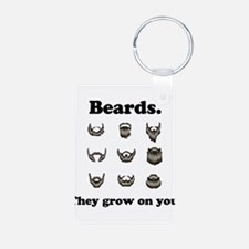 Beards - They Grow On You Aluminum Photo Keychain