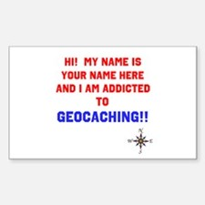 Addicted to Geocaching Decal