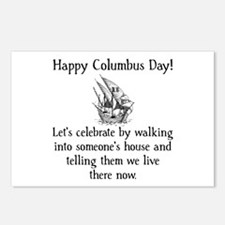 Happy Columbus Day Postcards (Package of 8)