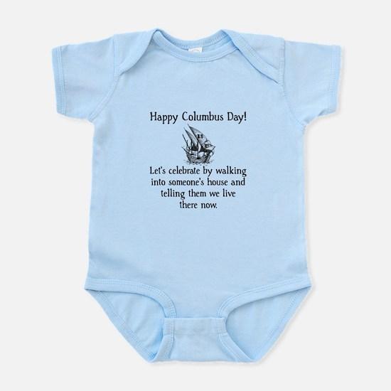 Happy Columbus Day Infant Bodysuit