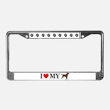 Love My Chocolate Lab License Plate Frame