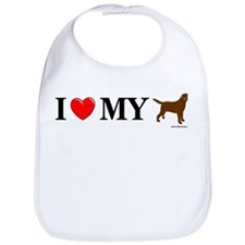 Love My Chocolate Lab Bib