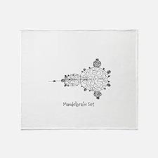 Mandelbrain Set Throw Blanket