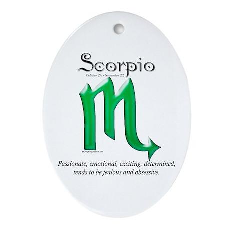 Scorpio 1 Oval Ornament