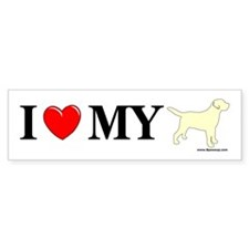 Love My Yellow Lab Bumper Bumper Sticker