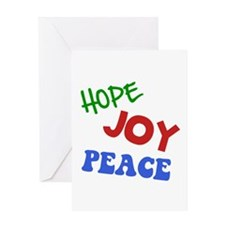 Hope Joy Peace Greeting Card