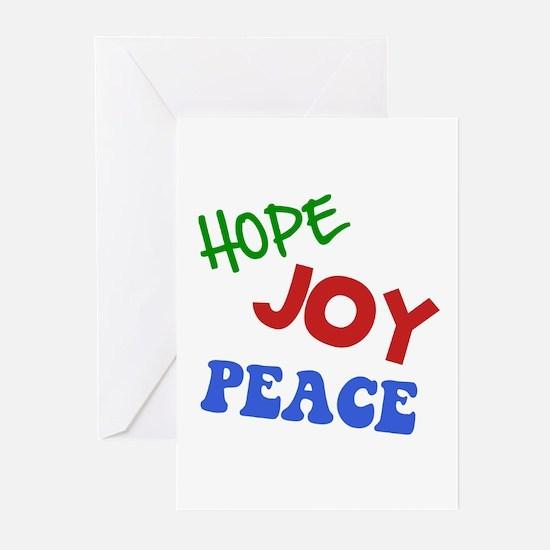 Hope Joy Peace Greeting Cards (Pk of 10)