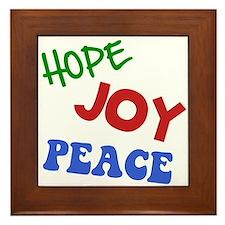 Hope Joy Peace Framed Tile