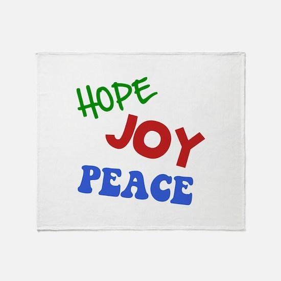 Hope Joy Peace Throw Blanket