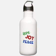 Hope Joy Peace Water Bottle