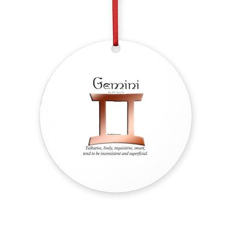 Gemini 1 Ornament (Round)