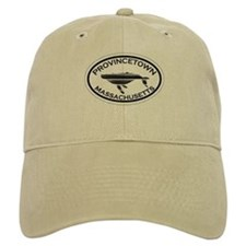 Provincetown MA - Oval Design. Baseball Cap