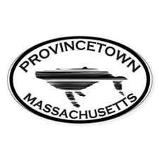 Provincetown MA - Oval Design. Decal