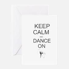 Cute Keep calm stay funky Greeting Card