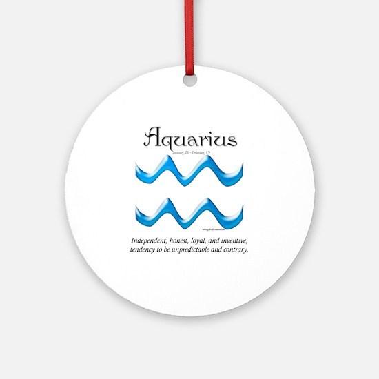 Aquarius 1 Ornament (Round)