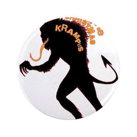 """Beware the Krampus 3.5"""" Button (100 pack)"""