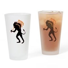 Beware the Krampus Drinking Glass