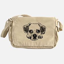 Black & White Puggle Messenger Bag
