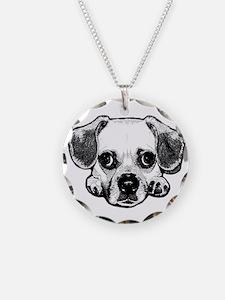 Black & White Puggle Necklace