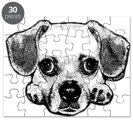 Black & White Puggle Puzzle
