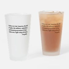 Proud Right Winger Drinking Glass