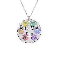 Bite Me I'm Vet Tech Necklace