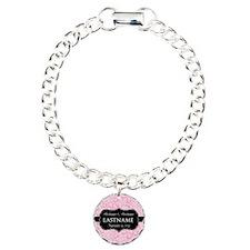 Pink Damask Wedding Favors Bracelet