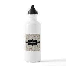 Wedding Favor - Taupe Damask Water Bottle