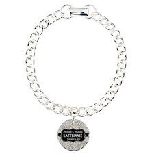 Wedding Favor - Taupe Damask Bracelet