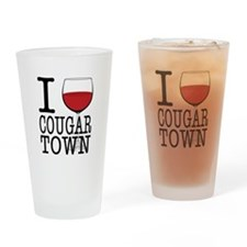 I Wine (Heart) Cougar Town Drinking Glass