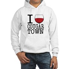 I Wine (Heart) Cougar Town Hooded Sweatshirt