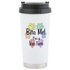 Bite Me I'm A Vet Tech - Travel Mug