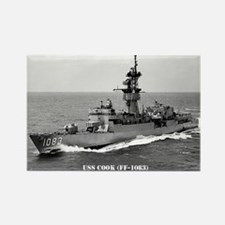 USS COOK Rectangle Magnet