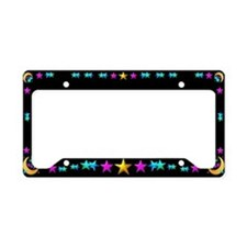Moon & Stars License Plate Holder