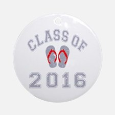 Class Of 2016 Flip Flop Ornament (Round)