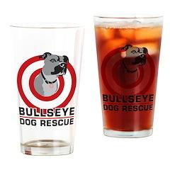 BullsEye Drinking Glass