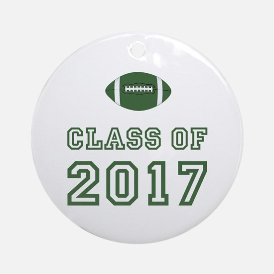 Class Of 2017 Football Ornament (Round)