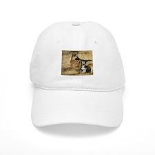 German Shepherd with GSD Pupp Baseball Cap