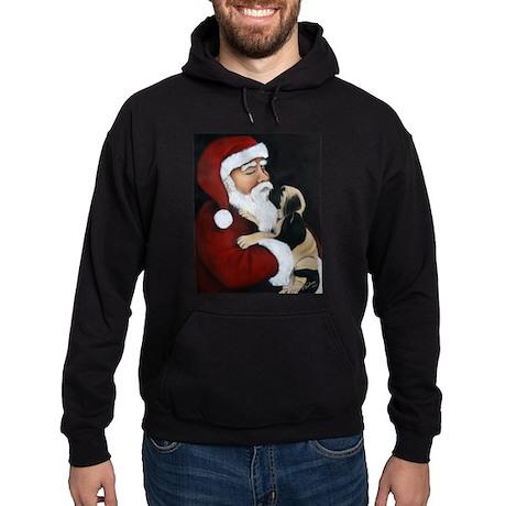 Mastiff Puppy with Santa Hoodie (dark)