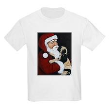 Mastiff Puppy with Santa T-Shirt