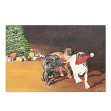 Mastiff Puppy Christmas Postcards (Package of 8)