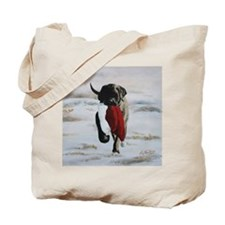Christmas Mastiff Puppy Tote Bag