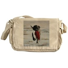 Christmas Mastiff Puppy Messenger Bag