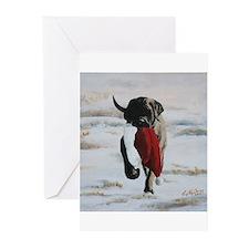 Christmas Mastiff Puppy Greeting Cards (Pk of 10)