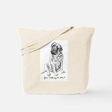 Mastiff You Talkin To Me? Tote Bag